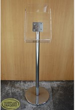 Brochure Display Stand Chrome