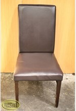 Dining Chair Padded Brown