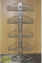 Chrome Basket Shelving Unit