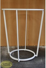 Round Clothing Stand White