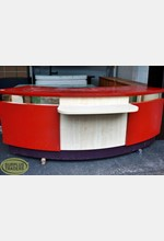 Curved Counter with Shelf