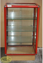 Glass Display Case Red