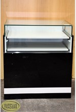 Glass Display Case Black