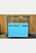 Glass Display Case Blue