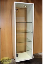 Glass Display Wall Unit White
