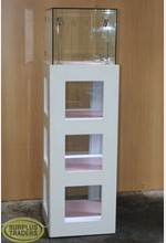 Tower Display Case White