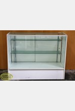 Glass Display Case White
