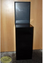 Black Plinth with Sign Display