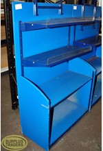 Display Shelving 4 Level Blue