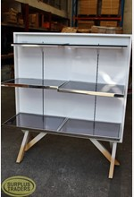 Metal Stand with Shelves