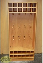 Wooden Prong & Cubby Unit