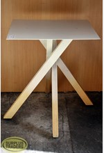Display Table on Wooden Legs