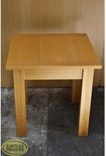 Square Display Table Wood