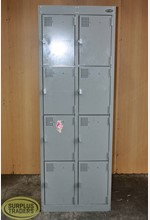 Europlan 8 Locker Unit Grey