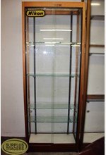Glass Display Case Brown