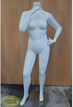 Female Mannequin Gloss White