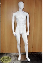 Mannequin Male Gloss White