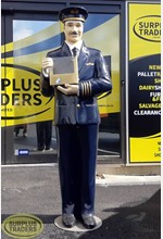 Mannequin Male Pilot on Stand
