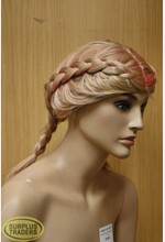 Mannequin Wig Blonde Plaited