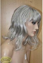 Mannequin Female Wig Grey