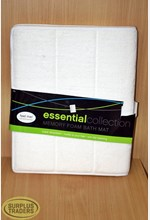 Bath Mat Memory Foam White
