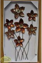 Metal Wall Decor Bronze