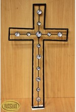 Crystal Metal Cross Wall Decor