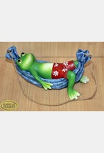 Frog in a Hammock Ornament