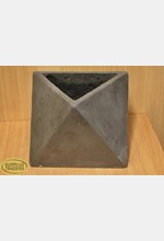 Geometric Cement Pot Grey