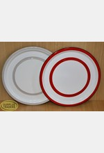Metal Plate 26.5cm Assorted