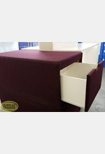 Fabric Covered Seat Purple