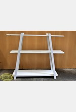 3 Tier Shelving Display White