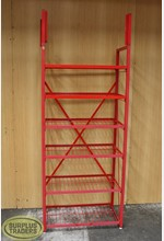 Metal Shelving Stand Red
