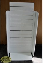 Slatwall Display Stand White