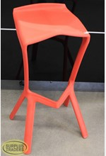 Bar Stool Plastic Red