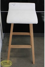 Padded White Bar Stool