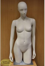 Torso Female on Stand Cream