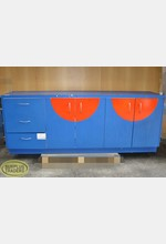 Wall Unit Credenza Blue/Red